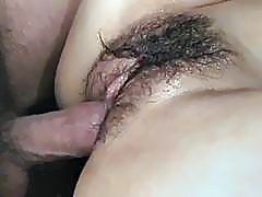 Jizz on pussy for curvy ass� Rei after serious hardcore