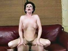 Busty grandma fucking with her young lover