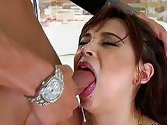 Kelly Kitty Gagging On Cock Deep In Her Mouth